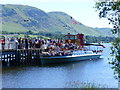 NY4624 : Embarkation at Pooley Bridge landing stage by Ruth Sharville