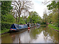SK1509 : Coventry Canal moorings near Huddlesford in Staffordshire by Roger  Kidd