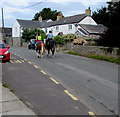 SS9272 : Horse riders in Wick, Vale of Glamorgan by Jaggery