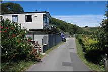 SX5646 : Path through Stoke Beach Caravan Park by Hugh Venables