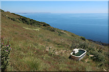 SX5746 : Water trough on End Cliff by Hugh Venables