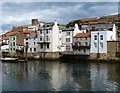 NZ8911 : Houses along the River Esk at Whitby by Mat Fascione