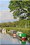 SK1409 : Private moorings near Huddlesford in Staffordshire by Roger  Kidd