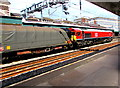 ST3088 : DB Cargo UK Class 66 locomotive in Newport station by Jaggery