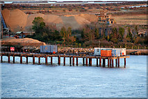 TQ7076 : Cliffe Fort Aggregates Jetty by David Dixon