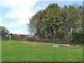 SE3632 : Temple Newsam farm - iron railings by Stephen Craven