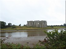 SN0403 : Looking across the lagoon towards Carew Castle by Basher Eyre