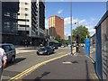 SP0787 : HS2 site – Park Street+Albert Street boundary, Eastside, Birmingham by Robin Stott