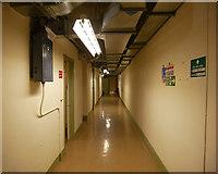 NH6845 : Corridor, Raigmore Emergency Bunker by Craig Wallace