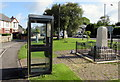 SS8974 : BT phonebox on a green in St Brides Major by Jaggery