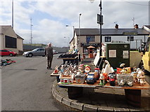 H9115 : Stall at Crossmaglen Market by Eric Jones