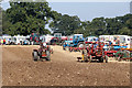 SJ4412 : Shrewsbury Steam Rally - vintage tractor working area by Chris Allen