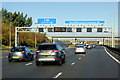 TL0817 : Northbound M1 at Junction 10 by David Dixon