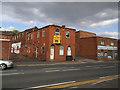 SE2424 : Buildings on Bradford Road, Batley by Stephen Craven