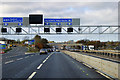 SP9637 : Northbound M1, Exit at Ridgmont Junction by David Dixon