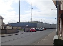 H9115 : Crossmaglen PSNI Barracks viewed from the northern end of Culloville Road by Eric Jones