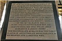 SU5846 : Dummer, All Saints Church: Elizabeth Forbes memorial plaque by Michael Garlick