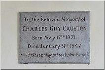 SU5846 : Dummer, All Saints Church: Charles Causton memorial plaque by Michael Garlick