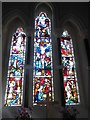 SR9694 : St Michael's & All Angels, Bosherton: stained glass window (4) by Basher Eyre
