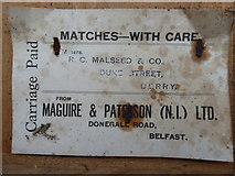 H4277 : Label from Maguire & Patterson (N.I.) Ltd. (3) by Kenneth  Allen