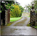 SS9368 : Stone lions at the entrance to The Old Vicarage, St Donats by Jaggery