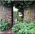 SS9468 : Kissing gate at an entrance to King George's Field, St Donats by Jaggery