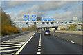 SP5678 : Northbound M1 at the Catthorpe Interchange by David Dixon