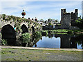 S6965 : Bridge and Castle Ruin by kevin higgins
