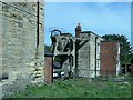 SE3900 : The two engine houses at Hemingfield colliery by Christine Johnstone