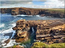 HY2115 : Natural arch, Brough of Bigging, Orkney by Claire Pegrum