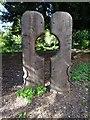 SO8419 : Wood sculpture on Hillfield Garden by Philip Halling