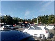 TL8663 : Bury St Edmunds Sainsbury's: car park and petrol station by Christopher Hilton