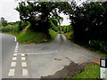 SO1073 : Minor road junction in Llanbister by Jaggery