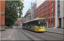 SJ8498 : Tram. Aytoun Street, Manchester by habiloid