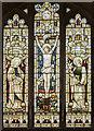 SE9608 : North window, St Mary's church, Broughton by Julian P Guffogg