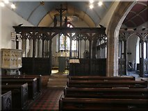 SX9192 : Nave and screen, St Mary Steps church, Exeter by David Smith