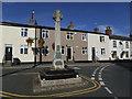 SE3937 : Village cross and war memorial, Barwick-in-Elmet by Stephen Craven