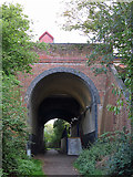 TQ0487 : Railway underpass and entrance to Denham station by Mike Quinn