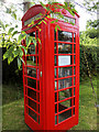SO6902 : Old-Style Telephone Kiosk at Halmore by David Dixon