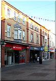 SS9079 : Santander in Bridgend town centre by Jaggery