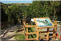 SX8852 : Noticeboard at Noss Marina by Derek Harper