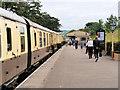 SO9525 : GWSR, Platform at Cheltenham Race Course Station by David Dixon