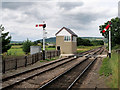 SO9525 : Gloucestershire Warwickshire Steam Railway Signal Box at Cheltenham Race Course Station by David Dixon