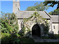 ST0167 : Entrance to the Church of St Giles, Gileston, Vale of Glamorgan by Jaggery