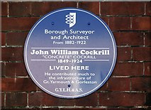 TG5307 : 12 Euston Road - John William Cockrill blue plaque by Evelyn Simak