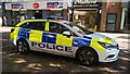 TL1998 : Police car on Long Causeway, Peterborough by Paul Bryan
