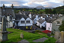 SD3598 : View over Hawkshead, evening light by David Martin