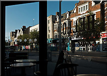 TM1714 : Retail premises on Pier Avenue viewed from Costa Coffee by Roger A Smith