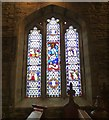 SJ9995 : Stained glass in Mottram Church by Gerald England