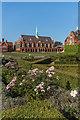 TQ1656 : Parterre garden, St John's School by Ian Capper